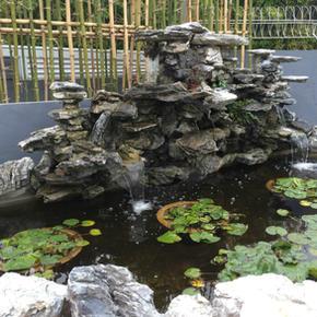西河名居-流水石山荷花魚池