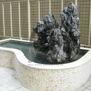 劉金龍中學-石山魚池