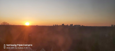 Sunset softly over London, Canada.  March 21, 2020