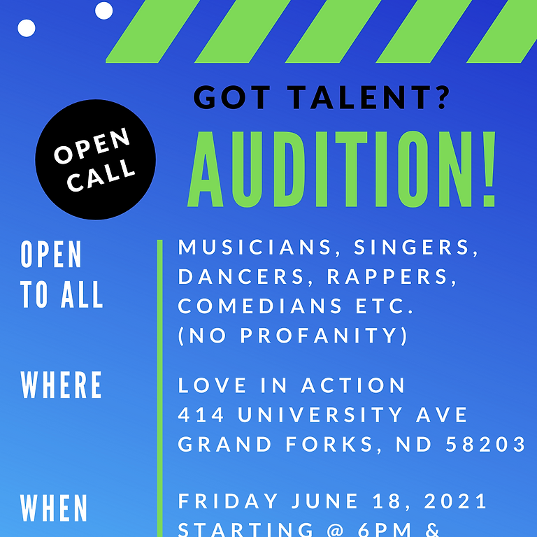 AUDITIONS!(No RSVP Needed)