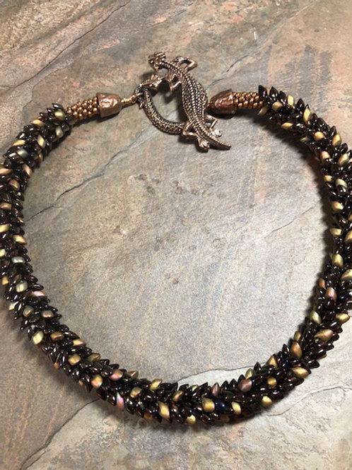 Lizard Kumihimo Necklace