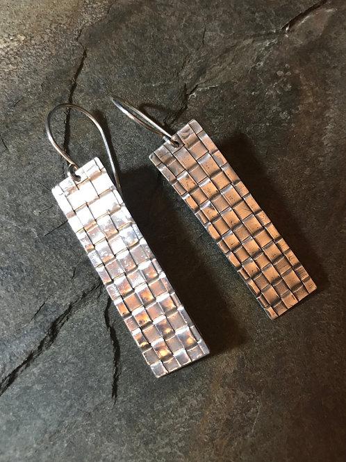 .999 Hand-Woven Fine Silver Earrings