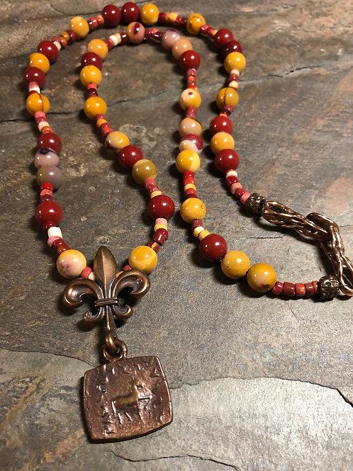 Mookaite/Hicorite Necklace