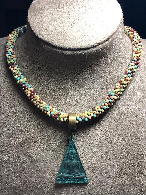 Eastern-Inspired Kumihimo Necklace