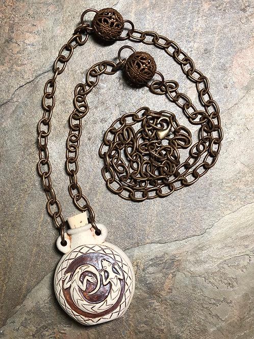 Lizard Vessel Necklace
