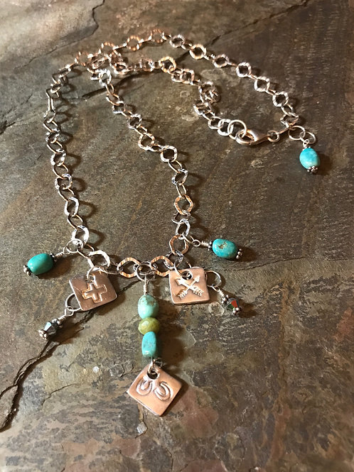 Turquoise & Jade Necklace
