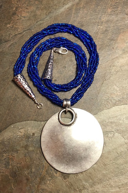 Sapphire and Silver Necklace