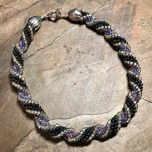 Purple Sunset Cellini Spiral Necklace