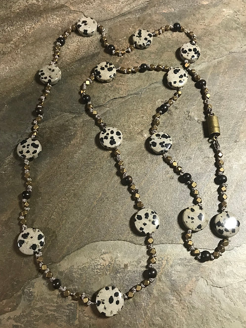 "24"" Dalmation Jasper Necklace"