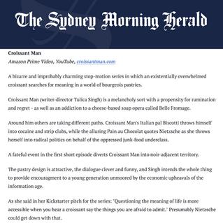 Amazing writeup in Sydney Morning Herald!