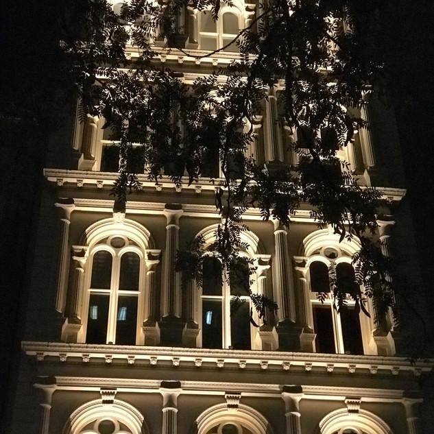 Bogardus Mansion Night