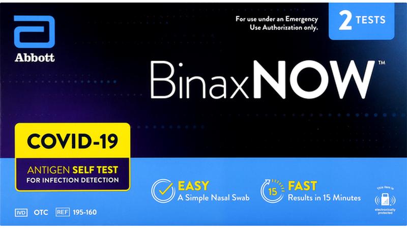 BinaxNOW COVID-19 Antigen Self Test