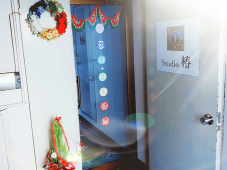 入口がクリスマス仕様になりました♡