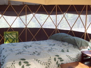 Yurts available for long weekend!
