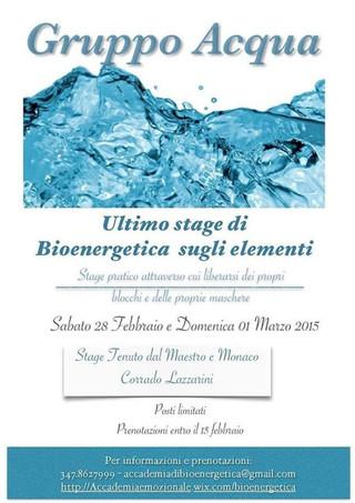Sono aperte le iscrizioni allo Stage Acqua di febbraio!!!