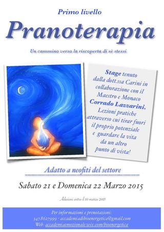Pranoterapia - Stage di Marzo
