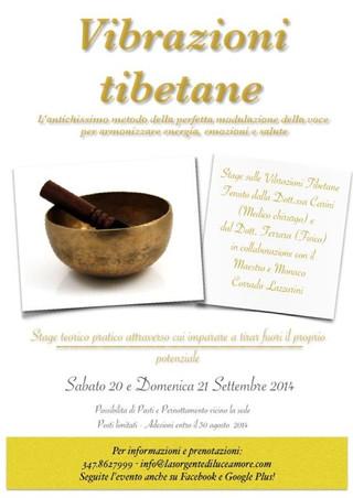 """Aperte le iscrizioni allo stage di settembre - """"Vibrazioni Tibetane"""""""