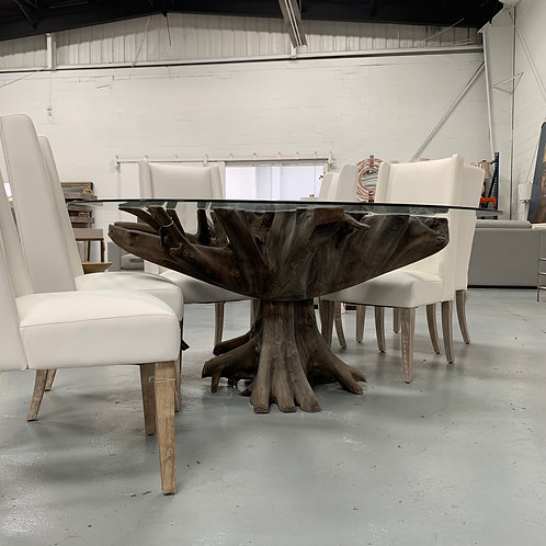 Jakarta Large Glass Top Dining Table