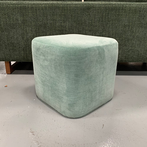 Ames Ottoman in Teal