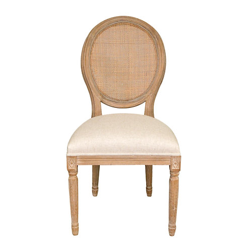 Louis Round Cane Back Dining Chair