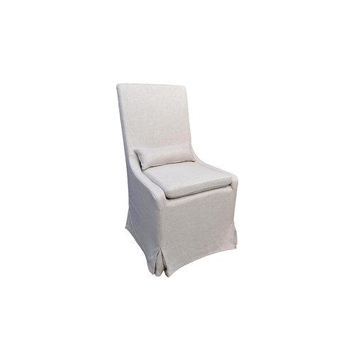 Belgian Castered Slipcover Dining Chair