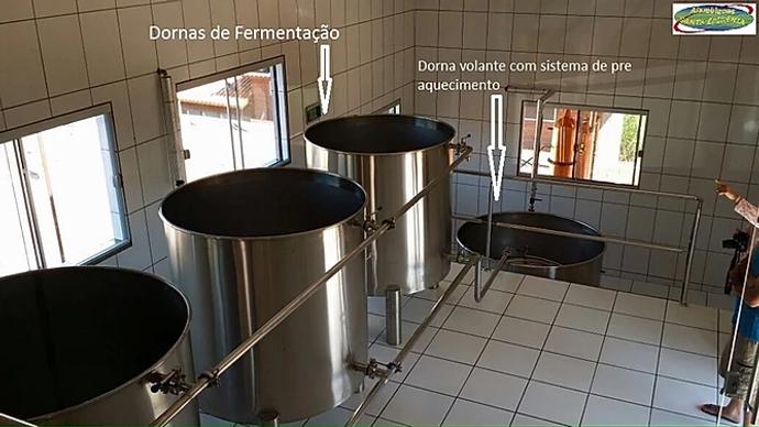 Dornas de Fermentação | Dorna volante com sistema de pré aquecimento