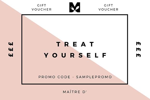 MAÎTRE D' &  Sipster Gift Voucher