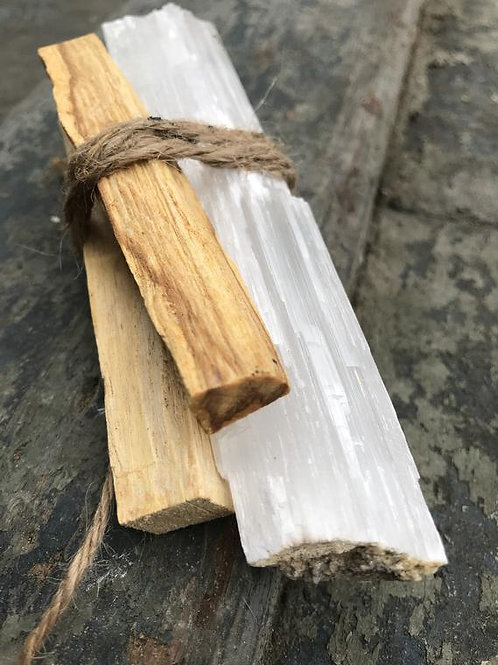 palo santo, selenite, smudge stick alternative, smudging, Witchcraft supplies online, beginners wicca shop, traditional witch
