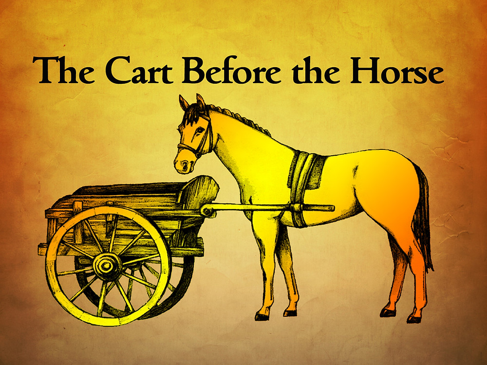 Image of a cart before a horse