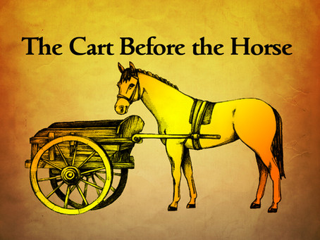 Put the horse before the cart!