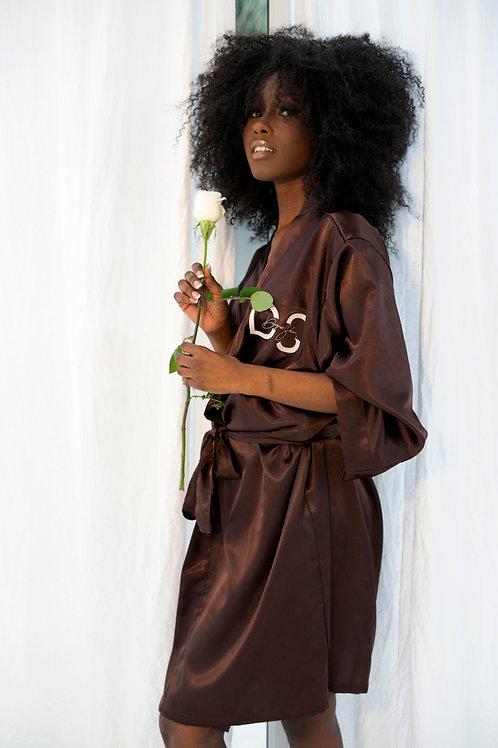 Luxe Satin Robe | Dark Chocolate