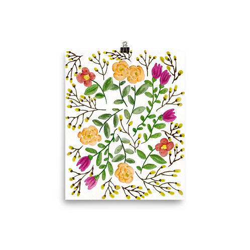 Branch and Flowers Posters