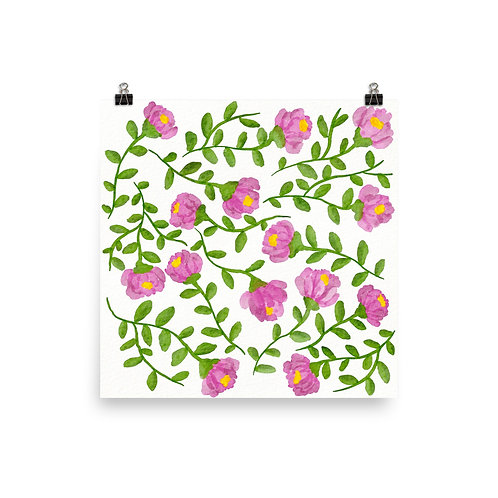 Fresh Pinky Flowers Poster