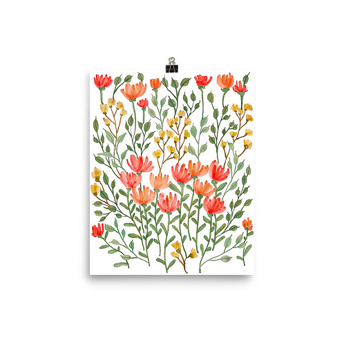 Flower Clusters Poster