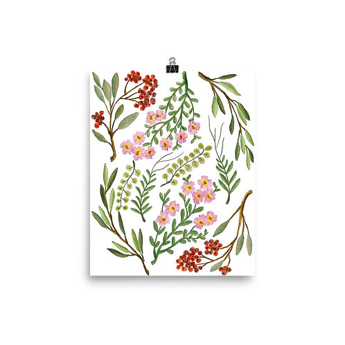 Fresh Summer Leaves Poster