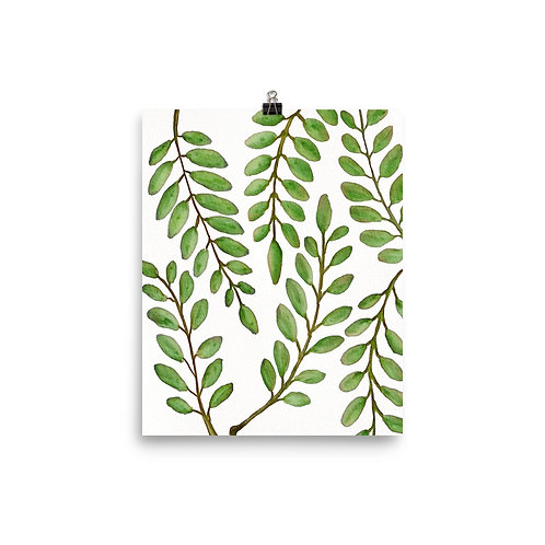 Leafy Branch Poster