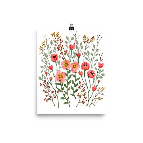 Flower Bush Poster
