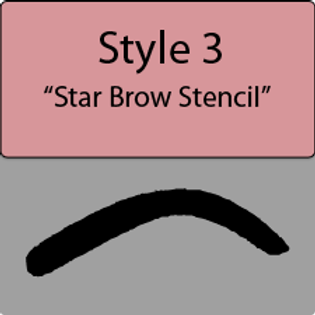 style 3 Star brow style
