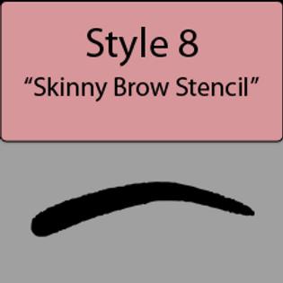 style 8 Skinny brow
