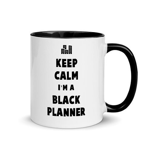 Keep Calm I'm a Black Planner Mug