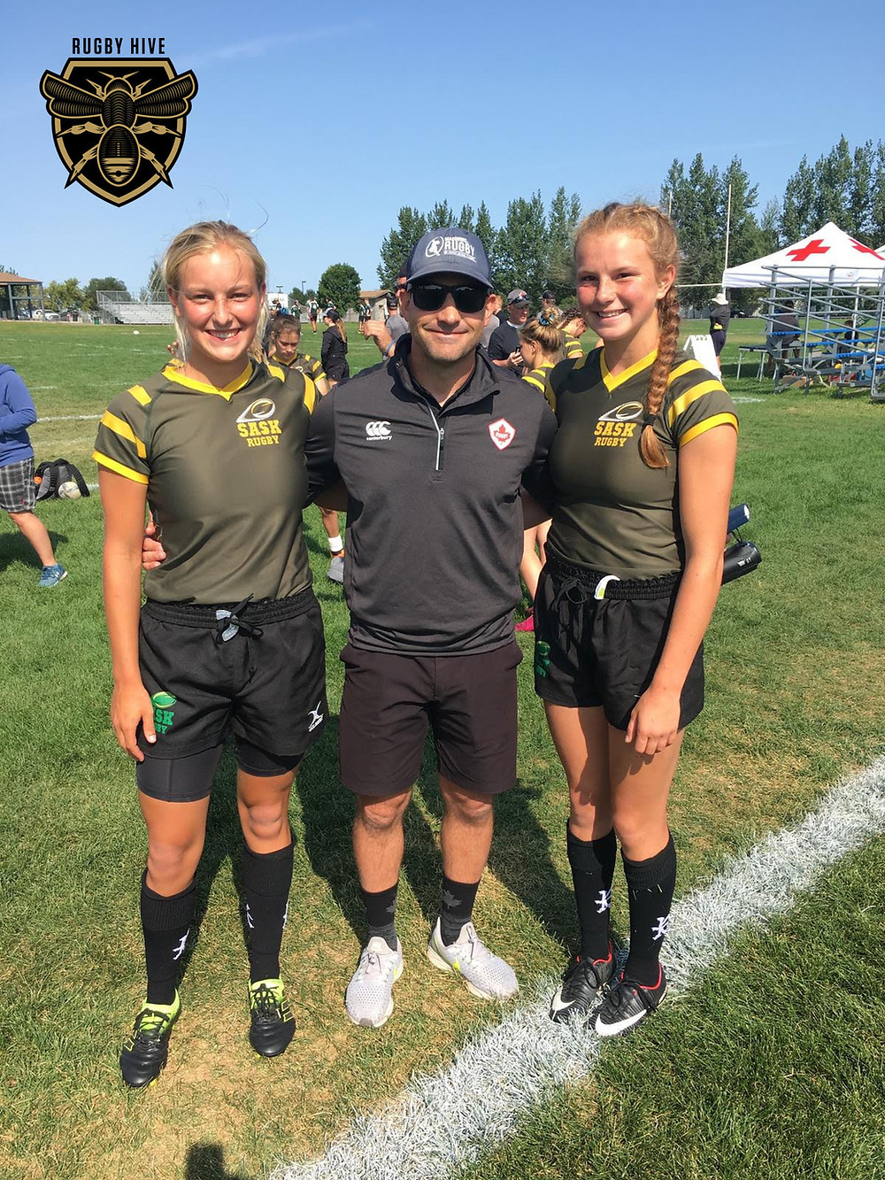 Christina Norsten Pictured (Left), Coach Robin MacDowell (Middle), Carissa Norsten (Right)