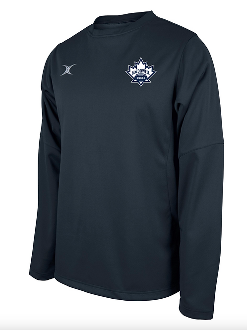 MacDowellRugby Contact Training Top Black