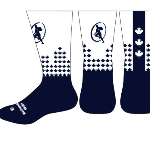 "MacDowellRugby Maple Leaf Socks ""White"""