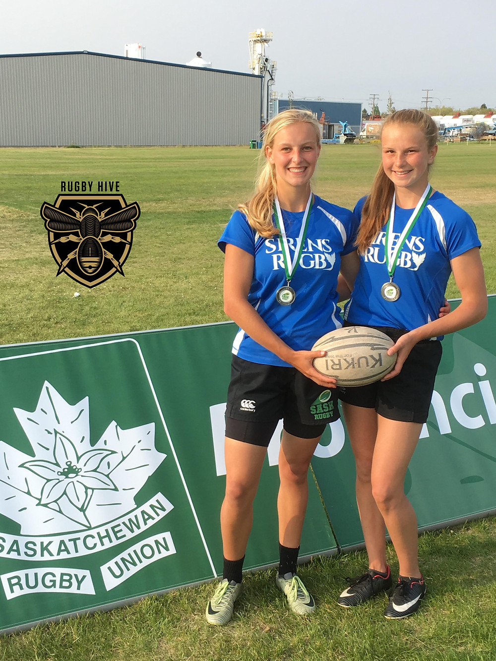 Christina Norsten (Left), Carissa Norsten (Right) Sirens Rugby Club