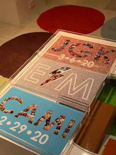 assorted acrylic trays