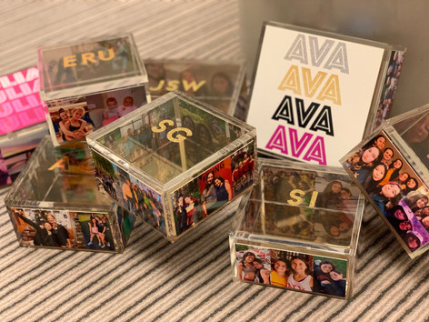 assorted acrylic boxes