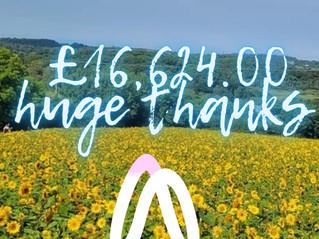 sunflowers raise £16,624.00