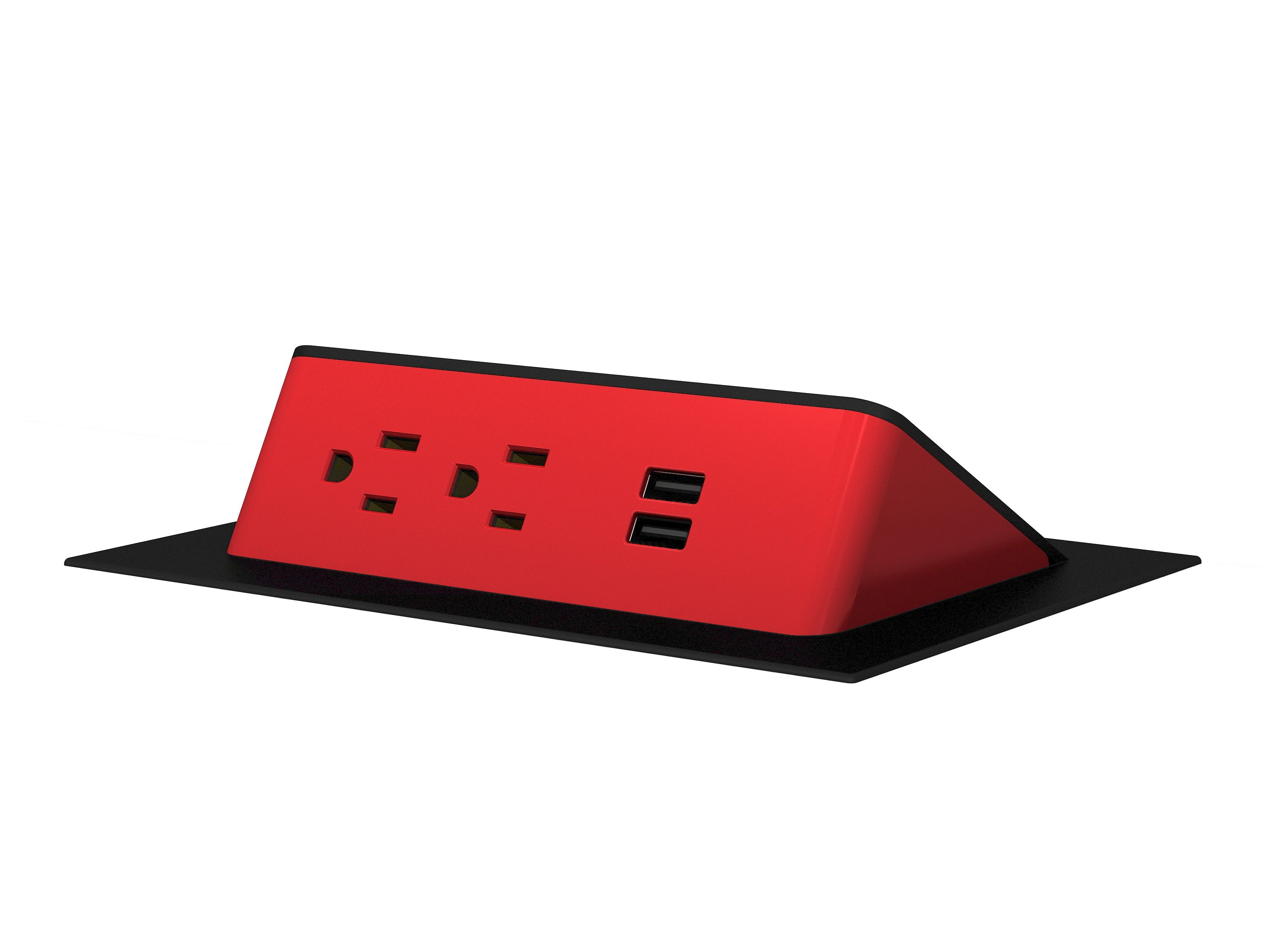 Ashley Air - Red Plastic Black Trim