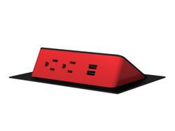 Ashley Air - Red Plastic Black Trim