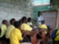 Teacher teaching class in Dominican Republic